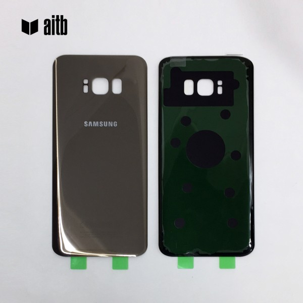 Samsung Galaxy S8 Plus G955F Backcover Akkudeckel in gold + Kleber