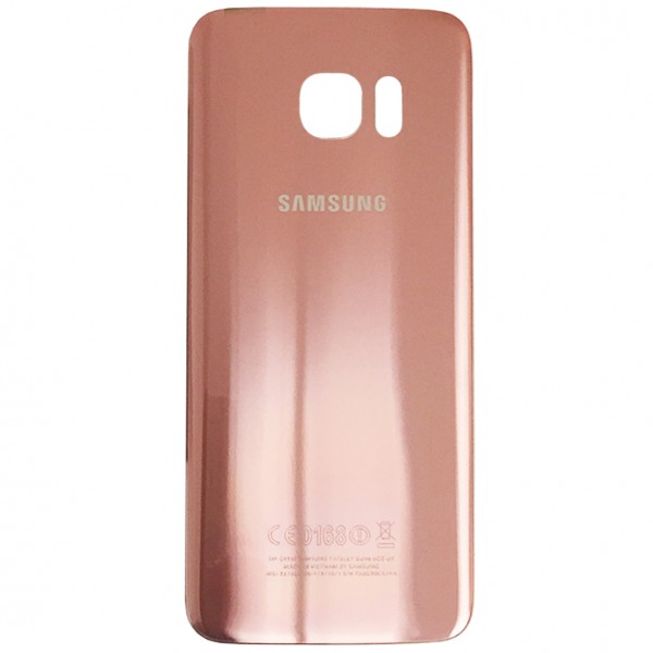 Samsung Galaxy S7 Edge G935F Backcover Akkudeckel in pink + Kleber
