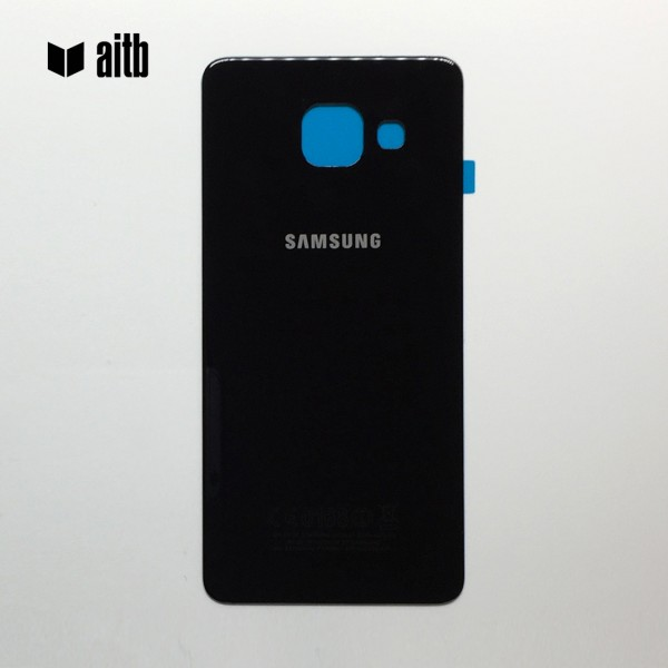 Samsung Galaxy A3 (2017) A320 Backcover Akkudeckel in schwarz + Kleber