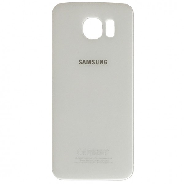 Samsung Galaxy S6 G920F Backcover Akkudeckel in weiß + Kleber