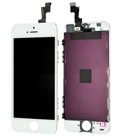 Display für Apple iPhone 5S Retina LCD Retina in weiß white inkl. Werkzeugset