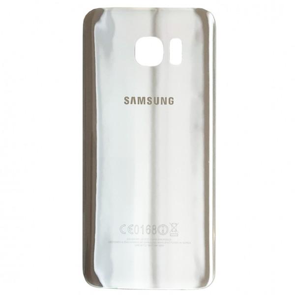 Samsung Galaxy S7 Edge G935F Backcover Akkudeckel in silber + Kleber