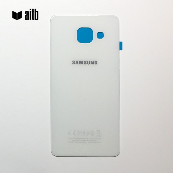 Samsung Galaxy A3 (2016) A310 Backcover Akkudeckel in weiß + Kleber