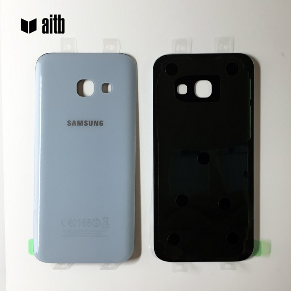 Samsung Galaxy A3 (2017) A320 Backcover Akkudeckel in blau + Kleber