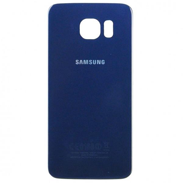 Samsung Galaxy S6 G920F Backcover Akkudeckel in dunkelblau schwarz + Kleber