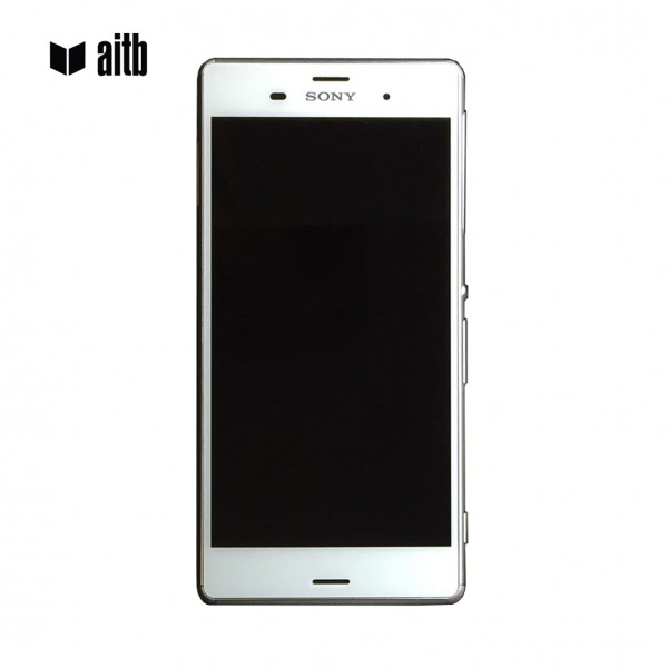 Premium Smartphone Display für Sony Xperia Z3 mit Rahmen, weiß