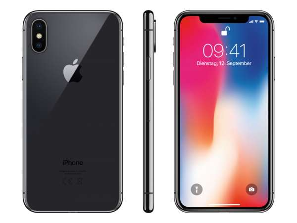 Apple iPhone X 256GB spacegrau (Generalüberholt)