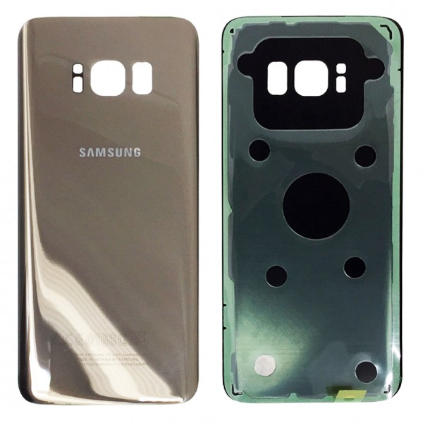 Samsung Galaxy S8 G950F Backcover Akkudeckel in gold + Kleber