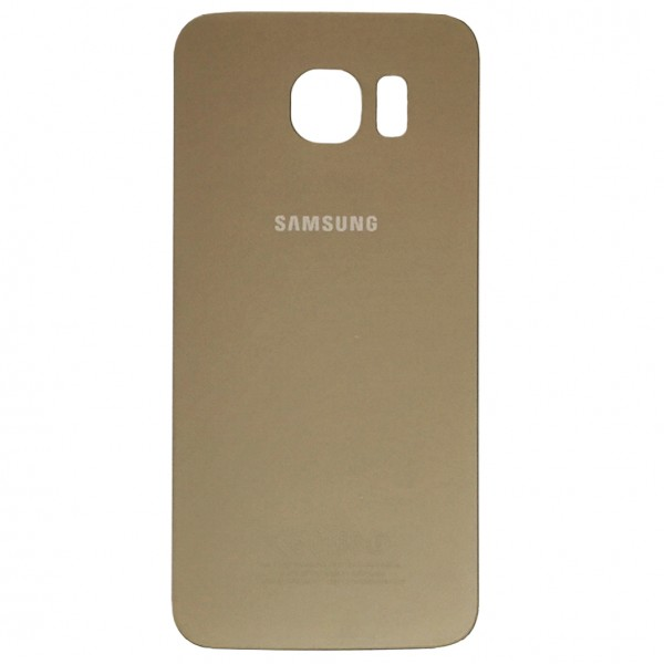 Samsung Galaxy S6 G920F Backcover Akkudeckel in gold + Kleber
