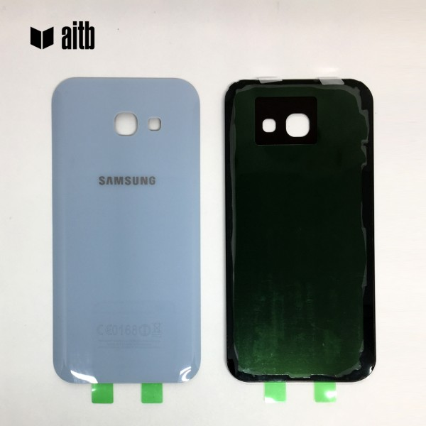 Samsung Galaxy A5 (2017) A520 Backcover Akkudeckel in blau + Kleber