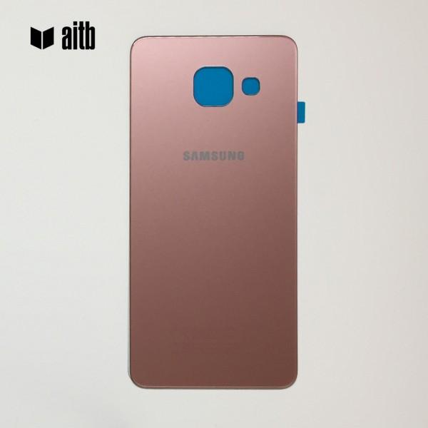 Samsung Galaxy A3 (2016) A310 Backcover Akkudeckel in pink + Kleber