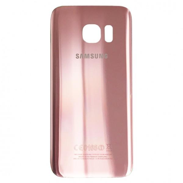 Samsung Galaxy S7 G930F Backcover Akkudeckel in pink + Kleber