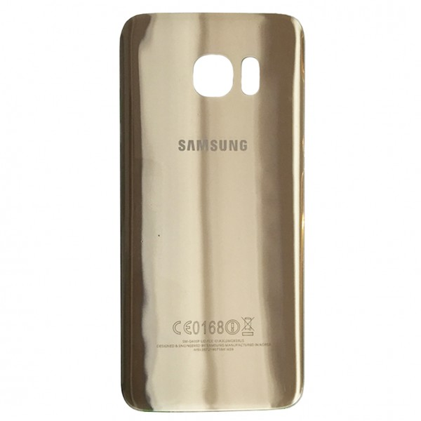 Samsung Galaxy S7 Edge G935F Backcover Akkudeckel in gold + Kleber