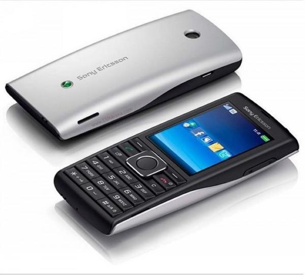 Sony Ericsson Cedar J108i - Schwarz Silber Handy