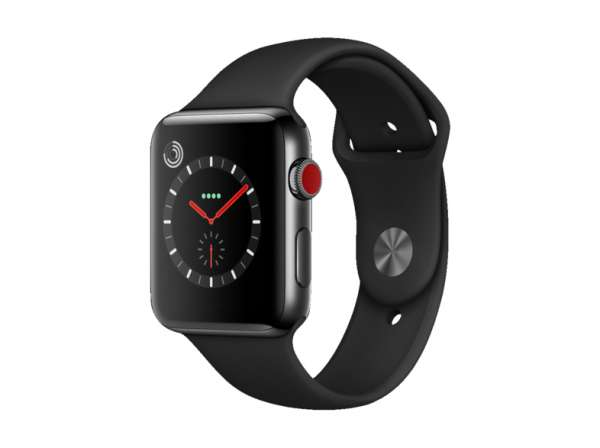Apple Watch Series 3 (GPS+Cellular) Space Black Stainless Steel 38 mm Sport Band-Copy