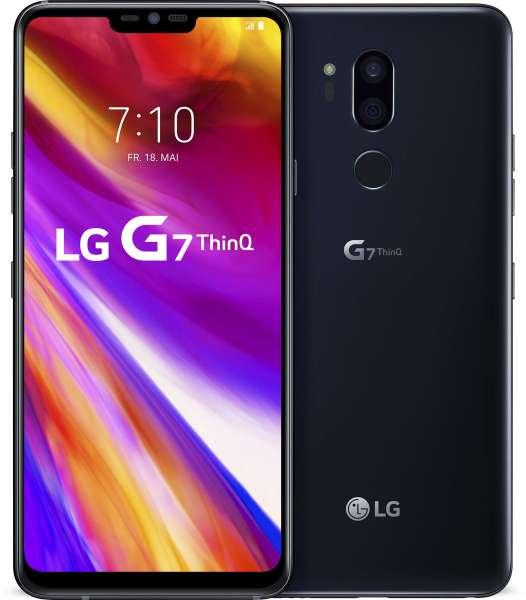 LG G7 ThinQ 64GB LM-G710EM black schwarz LTE 16MP simlockfrei NEU