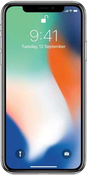 Apple iPhone X 64GB silber (Generalüberholt)