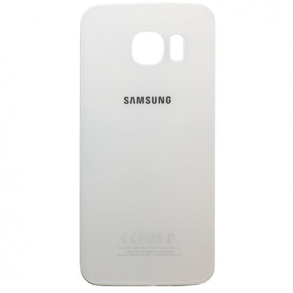Samsung Galaxy S6 Edge G925F Backcover Akkudeckel in weiß + Kleber