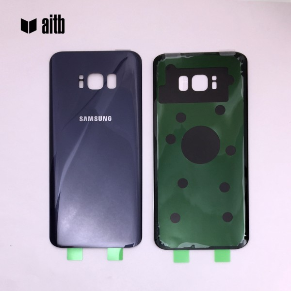 Samsung Galaxy S8 Plus G955F Backcover Akkudeckel in orchid violett grau + Kleber