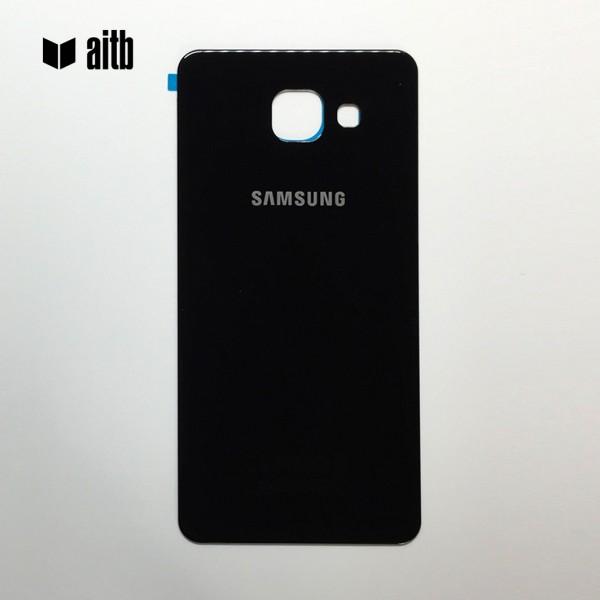 Samsung Galaxy A5 (2016) A510 Backcover Akkudeckel in schwarz + Kleber