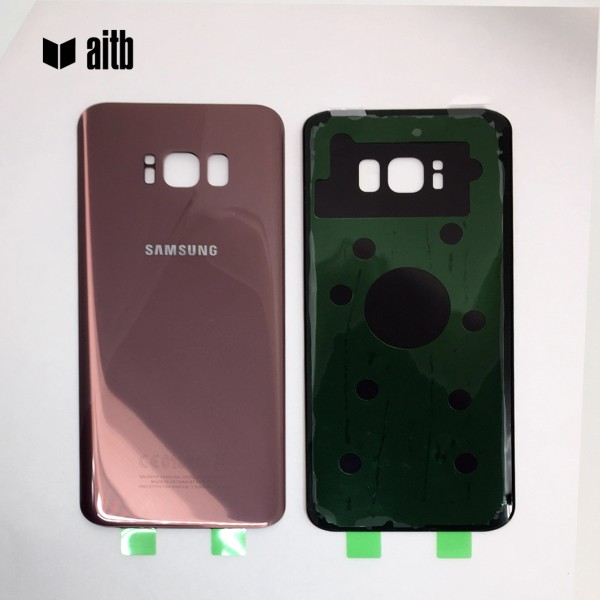 Samsung Galaxy S8 Plus G955F Backcover Akkudeckel in pink gold - rose + Kleber