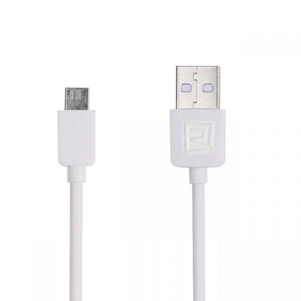Remax Micro USB Smartphone Kabel, weiß, ca. 1m